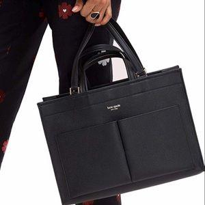 Kate Spade New York Sam Pebble Leather Large Black